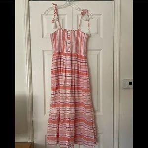 Roberta roller rabbit striped maxi dress S